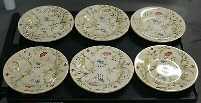 """EUC SQUARE STONEWARE """"AMERICAN SIMPLICITY FLORAL"""" BY HOME DINNER PLATE 11 ¼ x 11"""