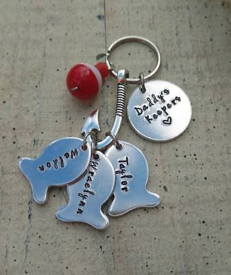 Personalized Customized Initial ID Name Keychain Key Ring Mother Father Day Gift