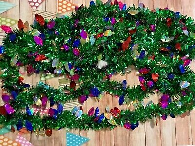 Silver//White Speckled w// Holo Snowflakes New 12 FT Ashland Christmas Garland