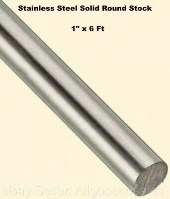 "Stainless Steel Solid Round Stock 4-1//4/"" x 6 Ft Lengths 303 Unpolished Rod"