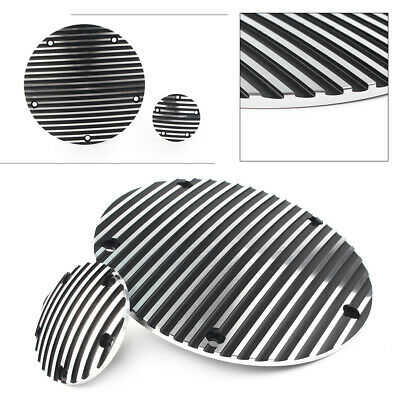 """RF Custom Parts /""""V/"""" 3D Raised Derby Cover Black fits ALL 03-up Victory Models"""