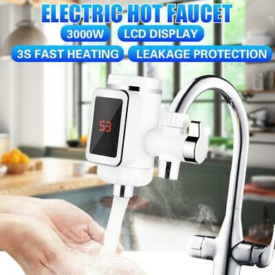 3000W Mini Electric Tankless Instant Hot Water Heater Kitchen Washing Faucet Tap