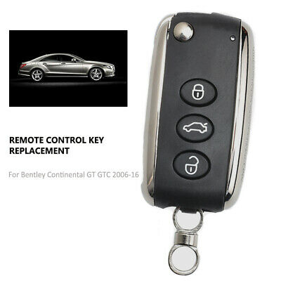 Replacement Remote Key Fob 3 Button 433MHz ID46 for Bentley Continental 2006-16