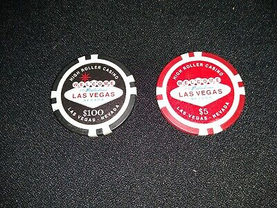 High Roller Casino Chips 5 100 Welcome To Las Vegas Nevada 18 00 Picclick