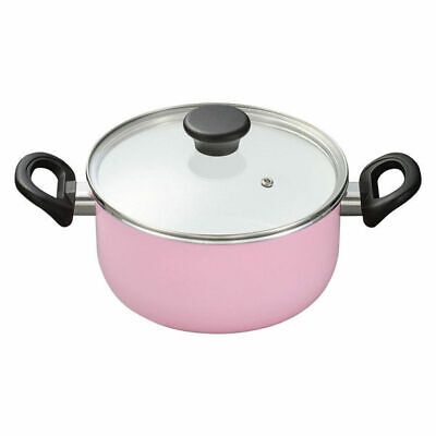 Ceramic processing two-handed pan 20cm pink gas fire only Kyocera