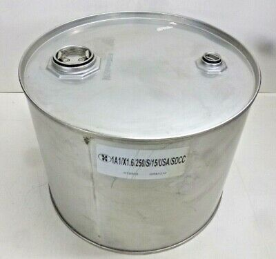 New 5 gal Silver 304 Stainless Steel Closed Head Transport Drum, ST0503