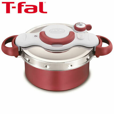 T-fal Crypsominite Duo Red 4.2L Pressure Cooker IH Compatible P4604236
