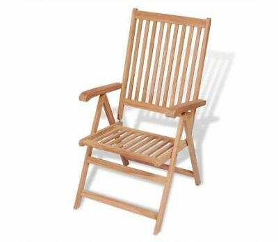 7 Reclining Garden Furniture Chair Solid Teak Hard Wood Delivery Includes 1 Fine