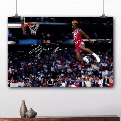 Michael Jordan Famous Flying Dunk from Free Throw Foul Line 30x40cm Poster Print
