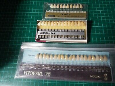 Three tooth Shade Guides - Wright, Ivoclar and De Trey Cosmopolitan