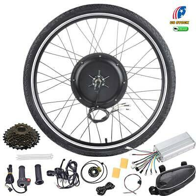 """48V 1000W/1500W Electric Bicycle EBike 26"""" Front/Rear Wheel Motor Conversion Kit"""