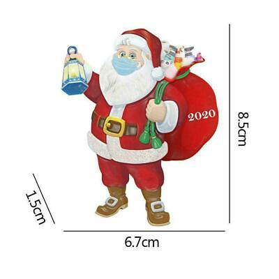 Christmas Tree Ornaments 2020 Santa w/ Mask Hanging Decor a a right Gifts N0J1