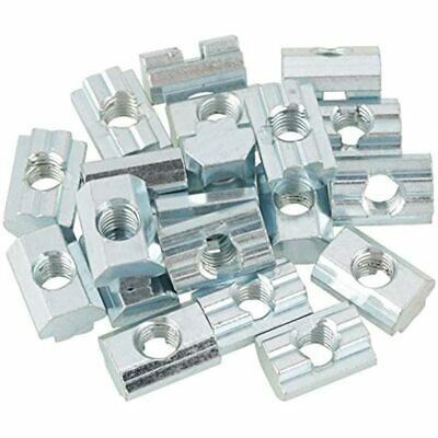 Hammerhead Nuts, 20pcs 40 Series 4040 M8 Zinc Plated Carbon Steel Sliding T-Slot