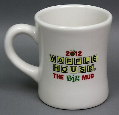 2012 Waffle House The Big Mug Heavy Ceramic Coffee Cup Happy Holidays Christmas
