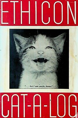 Ethicon Sutures Catalog 1957 Cute Cats With Humorous Captions