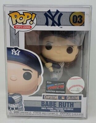 Funko Pop Figure NYCC Exclusive Babe Ruth MLB Sports NY Yankees pinstripes