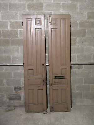 ~ ANTIQUE DOUBLE ENTRANCE FRENCH DOORS ~ 41.5 x 93 ~ ARCHITECTURAL SALVAGE