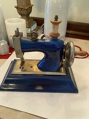 Antique Blue Casige Sewing Machine Germany