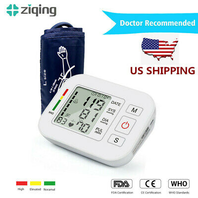 Ziqing Upper Arm Blood Pressure Monitor High Accuracy Intelligent with Cuff US