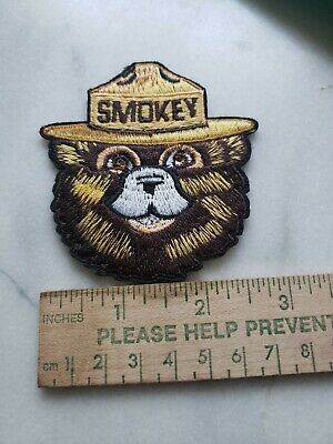 """New size* Smokey Bear  Face Patch.Iron on ,Or sew on,  fabric patch.3"""""""