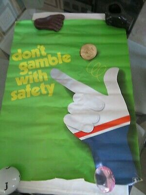 """VINTAGE UNITED STATES POSTAL POSTER - DON'T GAMBLE WITH SAFETY 1973 - 28"""" by 21"""""""
