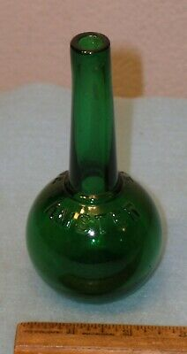 Antique Emerald Green AMSTER Patent STOCKING DARNER Candy Container  ROYERSFORD