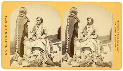 Wheeler Expedition 1874 Ute Braves Native American Indian Stereoview O'sullivan