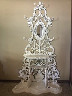 Antique Alfred Courneau Cast iron French Art nouveau Hall Stand/Hat Rack