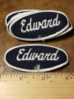 """/""""LARRY/"""" Rectangle Name Patch Embroidered Uniform Shop Used Patch Sew-On"""