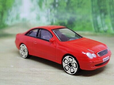 REAL TOY MERCEDES BENZ CLK COUPE GREEN RACE COLOURS  MINT CONDITION 1//59