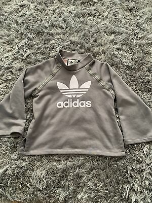 Girls Adidas Grey Sweatshirt Age 9-10 Years