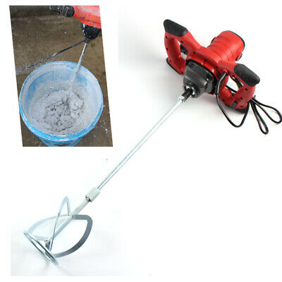 220V Electric Mortar Mixer Cement Paint Concrete Glue Plaster Rotary Drill Shaft