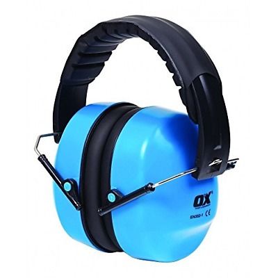 OX Tools OX-S248930 Folding Collapsible Ear Defenders, Blue