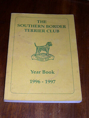 "Rare Dog Book ""The Southern Border Terrier Club Yearbook 1996-1997"" Illustrated"