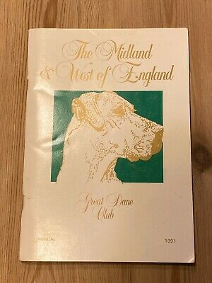 Rare Great Dane Dog Book Midland & West Of England Annual 1991 140 Pages Illus