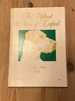 Rare Great Dane Dog Book Midland & West Of England Annual 1985 112 Pages Illus