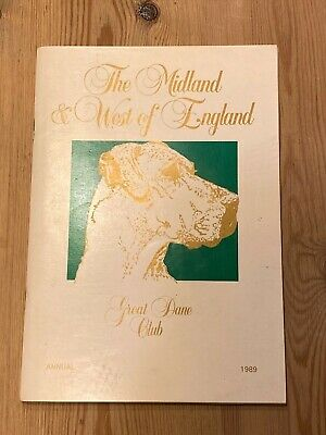 Rare Great Dane Dog Book Midland & West Of England Annual 1989 120 Pages Illus