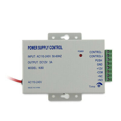 AC 110-240V IN to DC 12V 3A Power Supply Door Access Control Worldwide VoltageQC