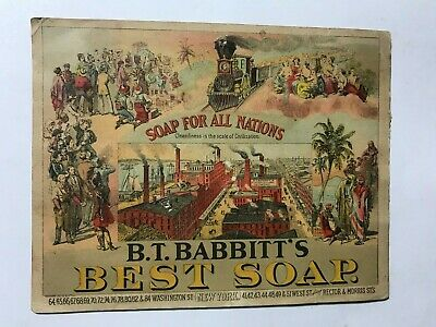 1800's B.T. Babbitt's Best Soap For All Nations Toilet Soap Victorian Trade Card