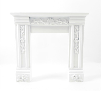 Melody Jane Dollhouse French Louis Cream Fireplace Surround Resin 1:12 Furniture