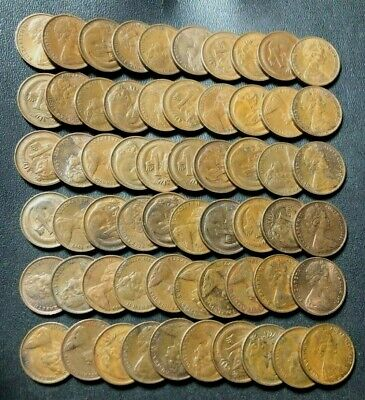 Old Australia Coin Lot - CENT - 60 EXCELLENT COINS - Lot #M2