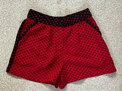 Girls Next Red and Black Sheer Heart Print Shorts Age 6 Years