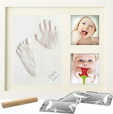 Baby Handprint and Footprint Kit DIY Picture Frame of Baby Footprint Kit with...