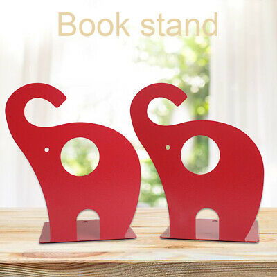 Cute Cartoon Elephant Kids Gift For Shelves Metal Bookends Storage Holder Study