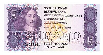 South Africa Republic South African Reserve Bank 5 Rand 1990-1994 XF+ #119e