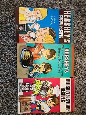 3X Vintage Log Hershey's Recipes Note Pad's