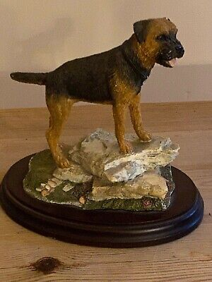 "Border Terrier Dog Antique Hand Painted ""Best Of Breed"" By Nature Craft 2000 (2)"