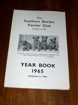 "Rare Dog Book ""The Southern Border Terrier Club Yearbook 1965"" Illustrated"