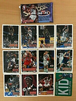 1999-00 Hoops NBA Basketball Cards - Open Packet of 12 Mint Condition Cards