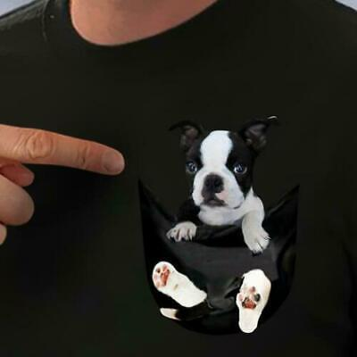 Details about  /The Mountain 100/% Cotton Unisex Adult T-Shirt Boston Terrier Luv NWT